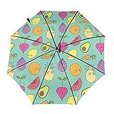 Diseño automático ligero compacto portátil del paraguas del viaje de la fruta y del Veg y alta resistencia al viento