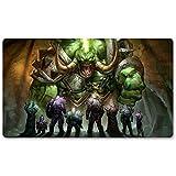 Warcraft44 – Juego de mesa de Warcraft tapete de mesa Wow juegos teclado Pad Tamaño 60 x 35 cm World of Warcraft Mousepad para Yugioh Pokemon MTG o TCG