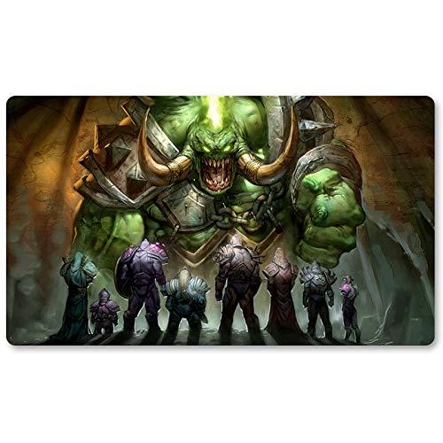 Warcraft44 – Brettspiel Warcraft Playmat Wow Tischmatte Spiele Keyboard Pad Größe 60 x 35 cm World of Warcraft Mousepad für Yugioh Pokemon MTG oder TCG