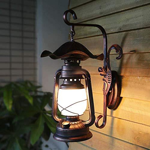Lámparas de pared LED antiguas vintage, lámpara de queroseno para interiores, aplique de pared E27, lámpara de pared rústica retro para loft, pasillo, patio, restaurantes, bares, cafeterías, centros