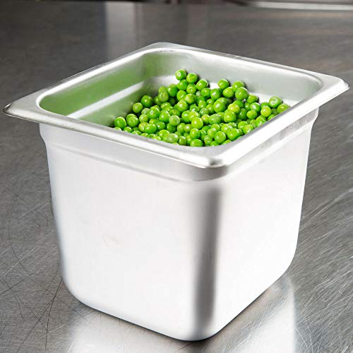 Review Of 1/6 Size Stainless Steel Steam Prep Table Commercial Food Pan 6 Deep NEW 4 PACK