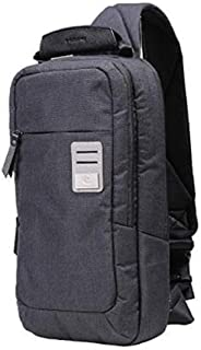 Crossbody Bag Water-resistant Canvas PU Sling Shoulder Chest Study Pack Small Backpacks Portable Sport Outdoor Pack Travel Bag for Men Girl Dpark