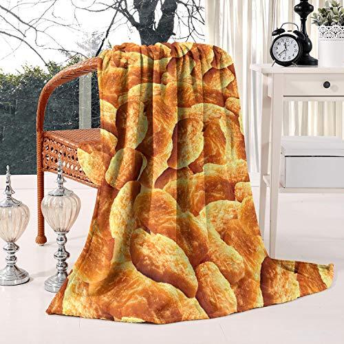 HSJOTT Chicken Nuggets All OverSuper Soft Flannel Fleece Blanket, Warm Sofa Blanket   50x60 Inches