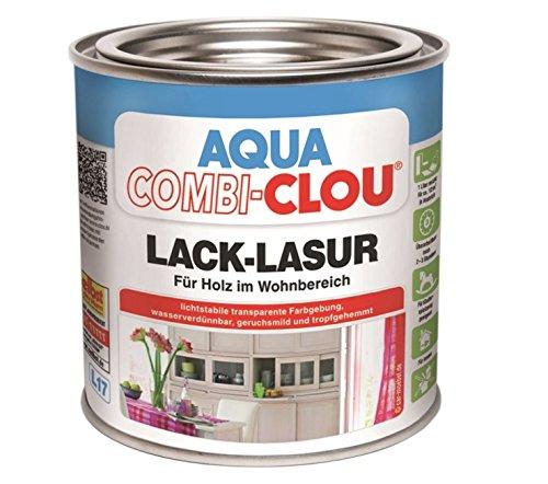 Clou Aqua Combi-Clou Lack-Lasur steingrau Nr. 24, 0,375 l