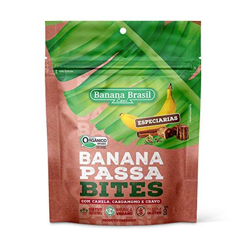 Banana Passa Orgânica Bites com Especiarias Banana Brasil 50g