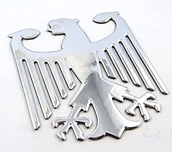 German Eagle Chrome Finish Decal Emblem 3D Sticker car Bike 2.5  Flexible