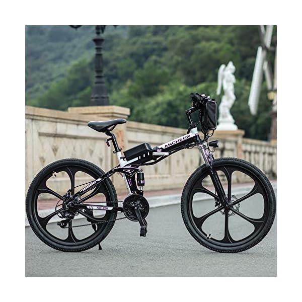 51FAT0UqmgL. SS600  - ANCHEER Faltbares E-Bike Elektrofahrrad mit 250W Motor, 26 Zoll Mountainbike Klapprad Pedelec 36V 8AH Lithium Akku 21-Gang Getriebe 20 Meilen