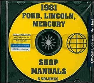 1981 MERCURY & LINCOLN FACTORY REPAIR SHOP & SERVICE MANUAL CD 80 Bobcat Capri Zephyr Monarch Versailles Cougar XR-7, Mercury Marquis, Mercury Marquis Brougham, Grand Marquis Colony Park Meteor Continental Mark VI & Lincoln Continental 81