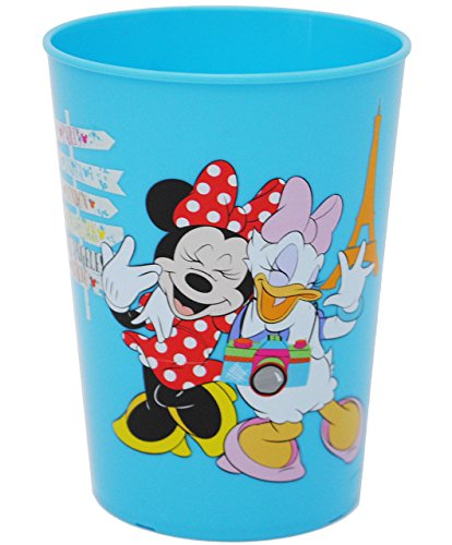 alles-meine.de GmbH 1 Stück _ 3 in 1 - Trinkbecher / Zahnputzbecher / Malbecher - Becher -  Disney Minnie Mouse - BLAU  - 280 ml - Trinkglas aus Kunststoff Plastik - für Kinder..
