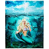 Mermaid Throw Blanket, Adorable Super-Soft Extra-Large Mermaid Blanket for Women, Girls, Teens, and Children, Cute Fleece Mermaid Blanket (50in x 60in) Warm and Cozy Throw for Bed, Crib or Couch