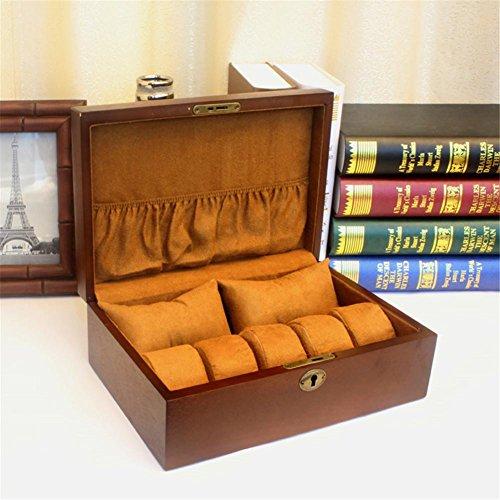 Haute qualité boîte de rangement en bois boîte de rangement de bijoux nouvelle boîte d'affichage avec serrure