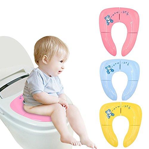 YWXJY Baby WC pieghevole vasino sedile copertine di formazione fodere, bambini portatile riutilizzabile Vasino da viaggio, Boys & Grils, design antiscivolo, vasino anello per bambino, 3 pacco