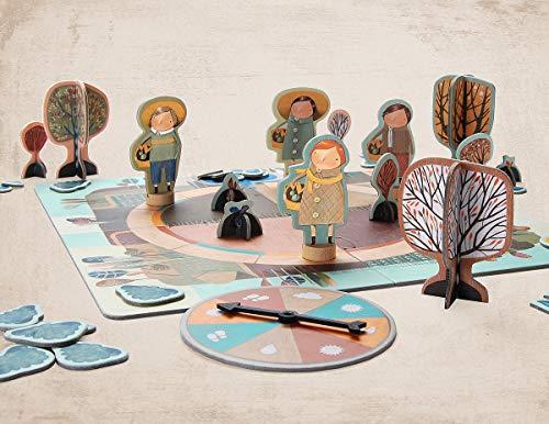 Marbushka Brettspiel - Kooperativ Gesellschaftsspiel für Kinder und Familien 2-4 spielers ab 5 Jahren [Garten] - ökologisch, nachaltig und fair-Trade aus natürlichen Materialien in Ungarn