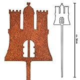 Galionsfigur HamBurg | Designer Blumenstecker Edelrost - 30cm hoch, Deko, Hamburg Souvenir, Mitbringsel, Gastgeschenk, Wappen, Made in Germany