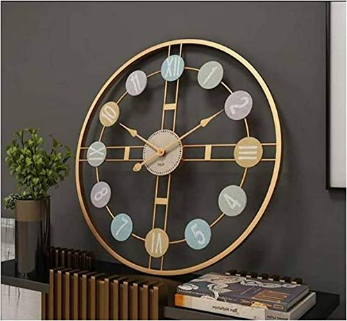 Ashlo's Big Golden Metal Wall Clock (Gold)