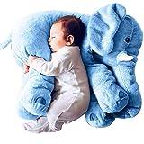 Pelande Elefant Plüschtier Elefant Kuscheltier Puppe Baby Schlafen Weiche Komfort Kissen Kindersofa Matte (Blau, 60 cm)