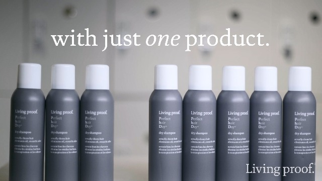 Use dry shampoo instead of washing your hair