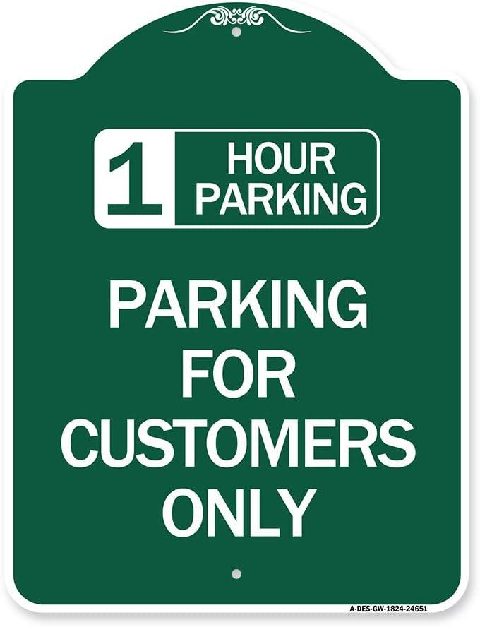 SignMission Designer Series Sign - outlet for Hour Parking Great interest 1