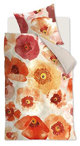Oilily Bettwäsche Faded Poppy Multi l 135x200cm l Baumwoll-Satin Hochwertiger Digitaldruck, 2-teiliges Set