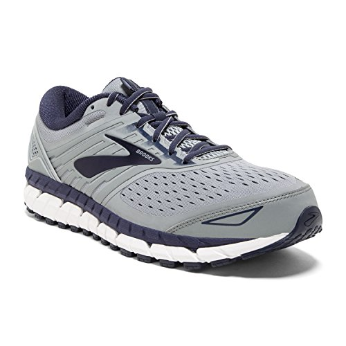 Brooks Mens Beast '18 - Grey/Navy/White - 8.0-2E Wide