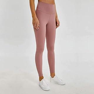 Yoga Pants Women High Waist Tight Elastic Running Fitness Pants,Pink(10)