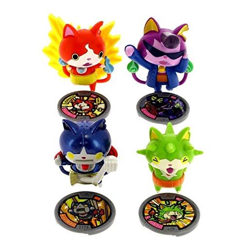 Hasbro - Yo Kai Watch 1388223. Jeu de 4 personnages.