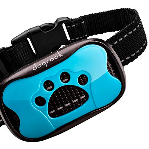 DogRook Rechargeable Dog Bark Collar - Humane, No Shock Barking Collar - w/2 Vibration & Beep Modes - Small, Medium, Large Dogs Breeds - No Harm Training - Automatic Action Without Remote -Adjustable