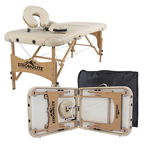 STRONGLITE Portable Massage Table Olympia - Double Knobs, Package w/ Adjustable Face Cradle, Face...