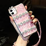 GSRYPC Luxury Shiny Diamond Shell Mobile Phone case, TPU Material Rhinestones Suitable for iPhone 11 (iPhone 11, Pink)