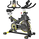 pooboo Indoor Cycling Bike, Belt Drive Indoor Exercise Bike,Stationary Bike LCD Display for Home Cardio Workout Bike Training from pooboo