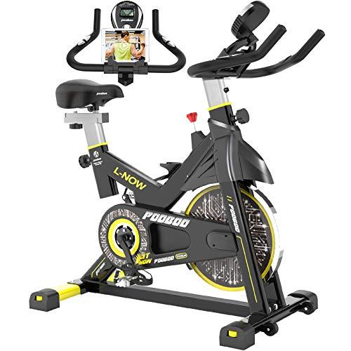 pooboo Indoor Cycling Bike, Belt Drive Indoor Exercise Bike,Stationary Bike LCD Display for Home Cardio Workout Bike Training