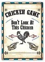 Chicken Game 金属板ブリキ看板警告サイン注意サイン表示パネル情報サイン金属安全サイン