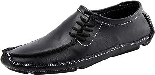 Homme en cuir Casual Smart Lacets Mocassin marche officielle de Bureau Chaussures