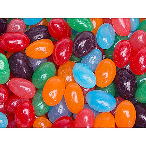 Jolly Rancher Jelly Beans Candy Original And All (10 Colors & Flavors Mix) - 5 Lb Bulk Bag (5 Pounds) Perfect For Easter Or ANy Occasion Assorted Flavors Strawberry Orange Blue Raspberry Watermelon Berry Apple Lemonade and more