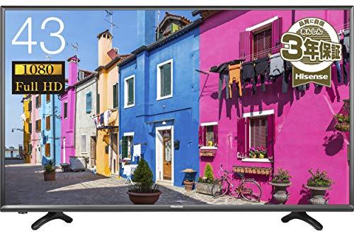 『ハイセンス 43V型 液晶 テレビ HJ43K3121 フルハイビジョン 外付けHDD裏番組録画対応 2016年モデル』の1枚目の画像