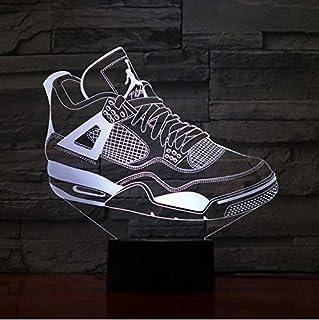 competitive price 7698d 74b89 Jordanie Rétro 4 Chaussures De Basket-Ball Lampe Décor De Chevet 3D  Illusion Touch Capteur