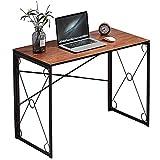 VECELO 39.4' Small Writing Computer Desk Simple Study Folding...
