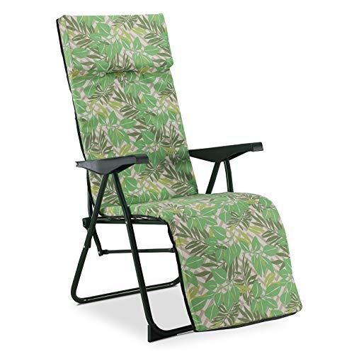 Solenny 50001001165137 -  Tumbona Relax 5 Posiciones  Acolchado 3 cm con Cabezal
