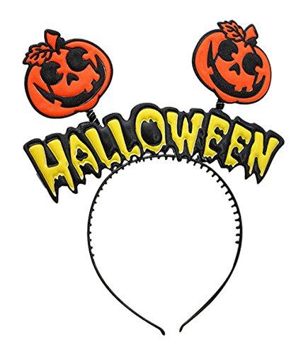 La Vogue Serre-Tête Mignon Déguisement Halloween Headband pour Enfant Fille Lettre Motif Citrouille