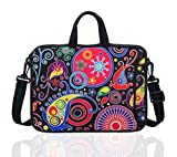 14 Inch Neoprene Laptop Sleeve Case Bag with shoulder strap For 14' Notebook/MacBook/Ultrabook/Chromebook (Classic colorful)