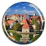 Weekino Maribor Eslovenia Imán de Nevera 3D de Cristal de Turismo de la Ciudad de Viaje Recuerdo de la Colección de Regalo Fuerte Etiqueta Engomada del refrigerador