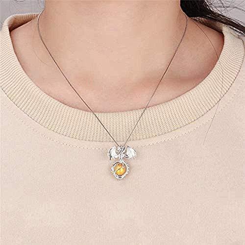 NC122 Plata 925 encantos de dragón Colgante de joyería para Mujeres auténtica Plata de Ley 925 encantos Colgante de Perla joyería de medallón