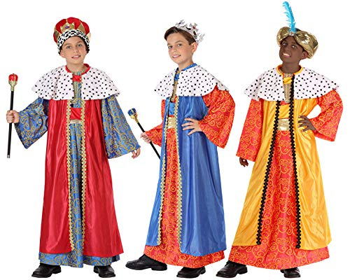 Atosa-32132 Atosa-32132-Disfraz Rey Mago nio infantil-talla color SURTIDO-Navidad, multicolor, 5 a 6 aos (32132)