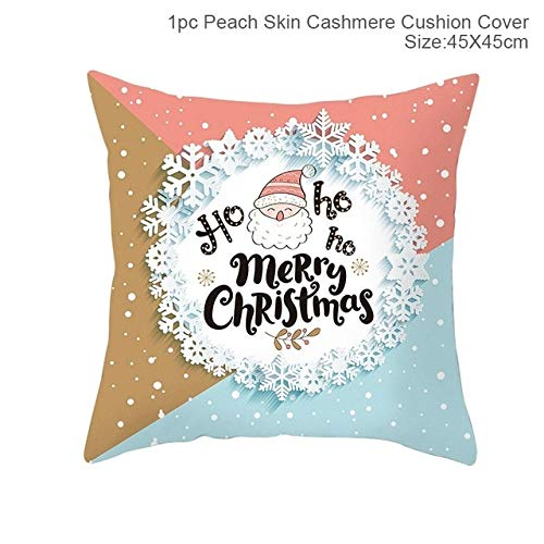 WERNG FENGRISE Merry Christmas Decor For Home Santa Claus Elk Pillowcase Christmas Ornament 2019 Navidad Happy New Year 2020 49-61