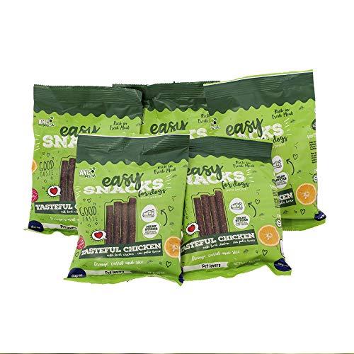 Rc Ocio Snacks für Hunde | 1 Packung 5 Beutel |Hundesnacks mit natürlichem Hühnerfleisch (70%).Kekse für Hunde gegen Mundgeruch, fettarm und natürlich perfekt als Trainingsleckerli (500gr)