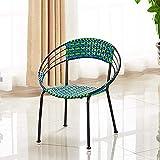 Muebles de jardín Set 3 piezas de mimbre al aire libre Bistro Suite Silla de mimbre Talk Traje y mesa de centro,Green