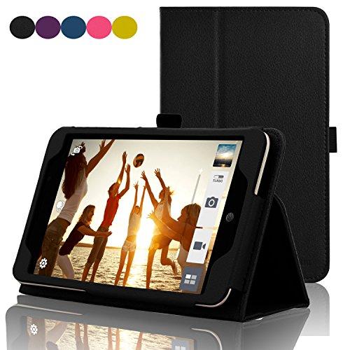 ACdream ASUS MeMO Pad 7 LTE Hülle, Premium PU-Leder Smart Cover Hülle für ATundT ASUS MeMo Pad 7 LTE GoPhone Prepaid Tablet ME375CL, schwarz