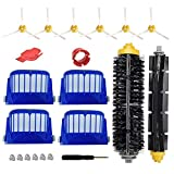 Replacement Accessories Kit for iRobot Roomba 600 Series 690 680 660 651 650 (Not for 645 655) & 500 Series 595 585 564 552,4 Filters, 6 Side Brush,1 Pair Bristle Brush & Flexible Beater Brush