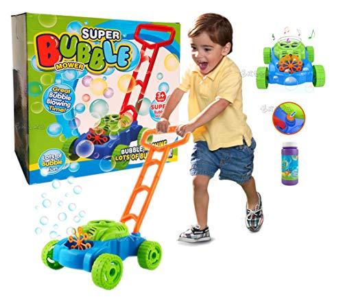 StrMy Tagliaerba con Bolle di Sapone decespugliatore Giocattolo Attrezzi da Lavoro per Bambini + Bolle di Sapone