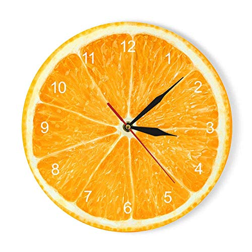 Mens Watches Wall Clock Orange Lemon Fruits Acrylic Wall Clock Lime Pomelo Modern Kitchen Clock Watch Home Decor Fresh Tropical Fruit Wall Art Timepie